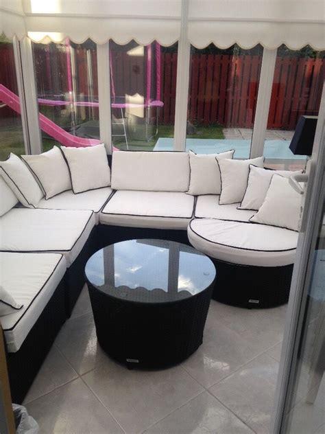 valencia rattan sofa set valencia rattan conservatory garden corner sofa set in