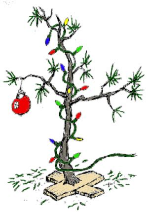 large charlie brown christmas tree author judith p vaughan we found our brown tree