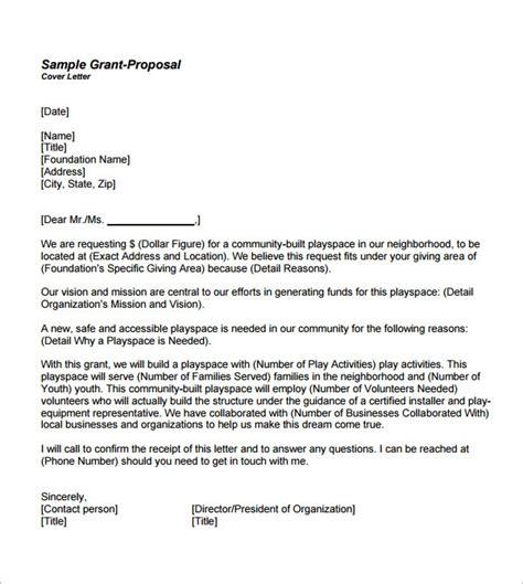 sample proposal letter templates   sample
