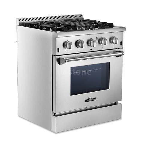kitchen 30 quot 4 burner dual fuel stainless steel gas range 2 years warranty n9e1 ebay