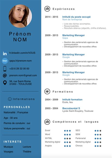 Exemple Cv by Template Cv Informatique Qs59 Jornalagora
