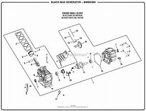 Homelite Bm903500 3500 Watt Generator Parts Diagram For
