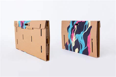 refold cardboard standing desk     work