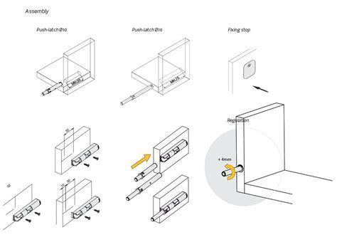 Indaux push latch : Standard strength IMPULSE push latch