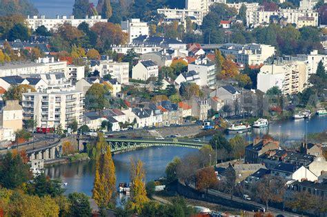 photos vue aerienne de nantes centre ville erdre pont