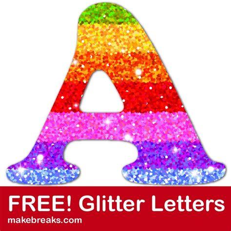 printable rainbow glitter letters  breaks