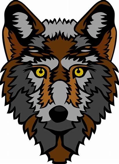 Wolf Head Stylized Clip Svg Onlinelabels