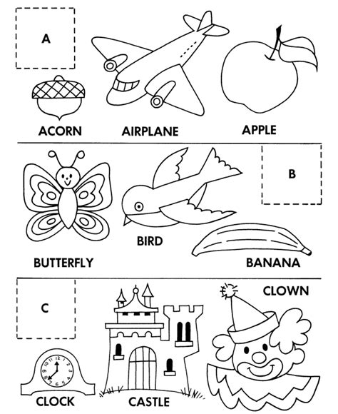 cut  paste coloring pages coloring home