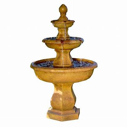 Water Fountain Tropical Tier Garden Sunnydaze Tiered