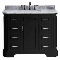 black bathroom vanities Pegasus Bristol 42 in. Vanity in Black with Marble Vanity ...
