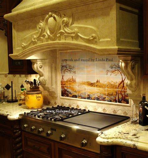 kitchen backsplash tile murals  linda paul studio