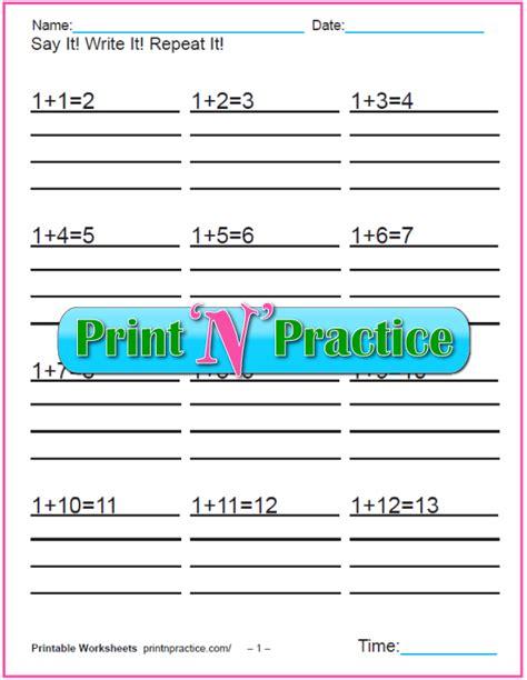 addition worksheets  kindergarten    grade