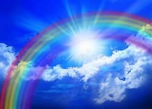 Rainbow Sky stock image. Image of sunbeams, sunny, energy ...