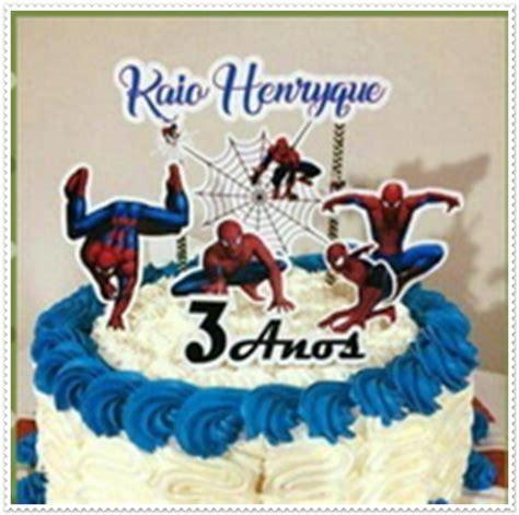 arquivo de corte digital topo de bolo homem aranha no elo7 pirulito 123 artigos para festa