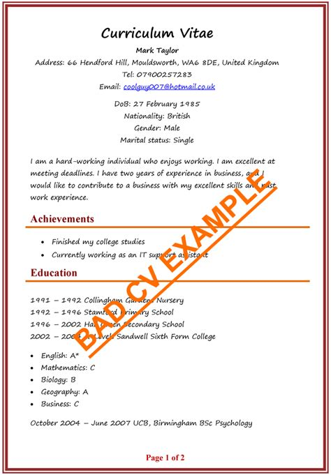 So, here is how to write a cv if you do not have work experience; Impressive Resume Format - Database - Letter Templates