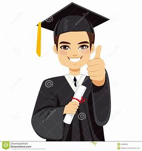 Brown Haired Graduation Boy Stock Vector - Image: 49988235