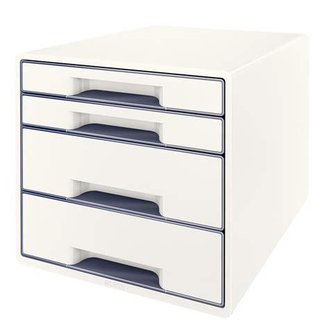 bloc de classement bureau leitz bloc de classement à tiroirs blanc module de
