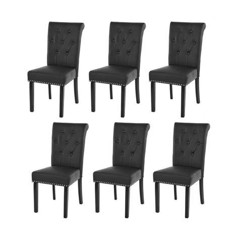 chaises lot de 6 lot de 6 chaises de salle à manger design marron pieds foncé cds04208 décoshop26