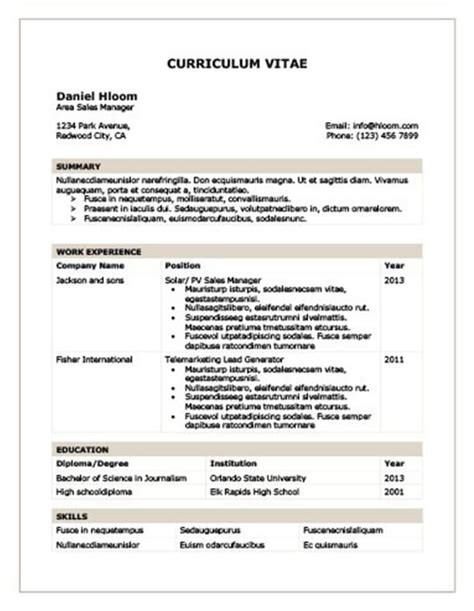 Lebenslauf In Tabellarischer Form by Modern Resume Templates 64 Exles Free