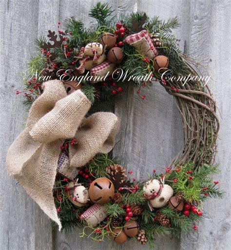 christmas wreath holiday wreath snowman jingle bells
