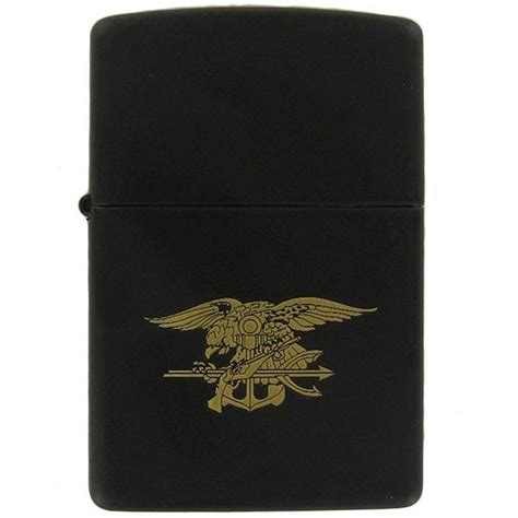 usn seal special warfare black  gold zippo lighter