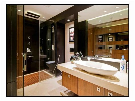 Modern Bathroom Design In India by Master Bathroom With Wash Basin Cabinet Design By