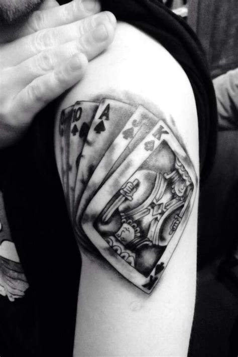 royal flush tattoo