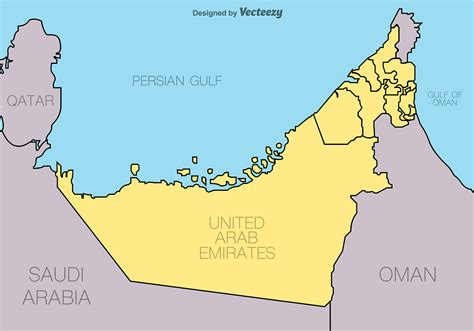 united arab emirates vector map   vector