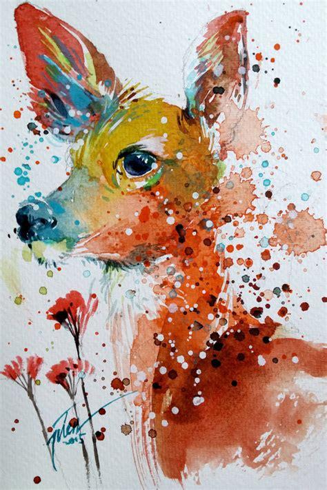 vibrant watercolor animal paintings  tilen ti designwrld