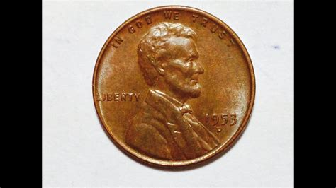 1953-d United States Wheat Penny