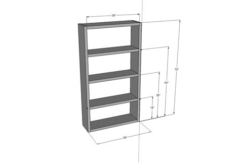 Lack Bookcase Dimensions white ikea lack inspired bookcase diy projects