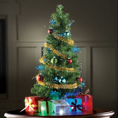 fiber optic tabletop christmas tree  collections