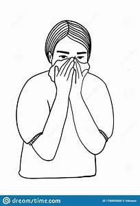 Human Sick  Ill Or Disease  Cartoon Character Demonstrate