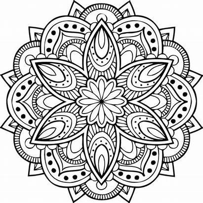 Mandala Cricut Svg Coloring Mandalas Zentangle Floral