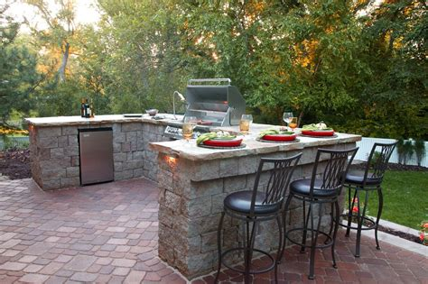 outdoor brick grill ideas patio traditional with built in