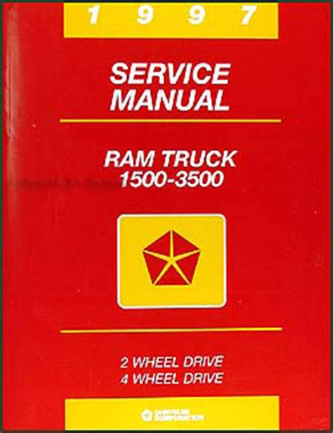 car maintenance manuals 1997 dodge ram 3500 transmission control 1997 dodge ram truck repair shop manual original 1500 2500 3500