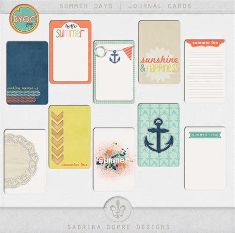 lilypad journal cards summer days journal cards