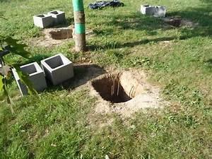 preparer et couler les fondations construire sa terrasse With maison bois sur plots 0 fondation pneu homedepaille