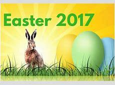 Easter 2017 yearly printable calendar