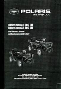 2007 Polaris X2 Sportman 500 Efi And 800 Efi Owners Manual