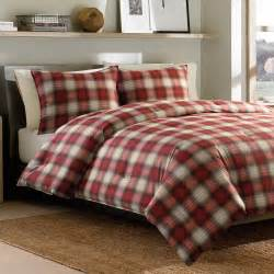bedroom pattern plaid flannel sheets with throw pillows