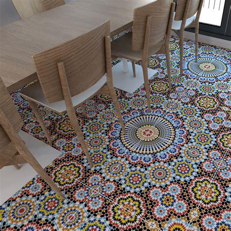 Moroccan Floor Tile Stickers (pack Of 16