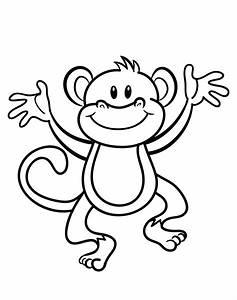 Free Printable Monkey Coloring Page Cj 1st Birthday