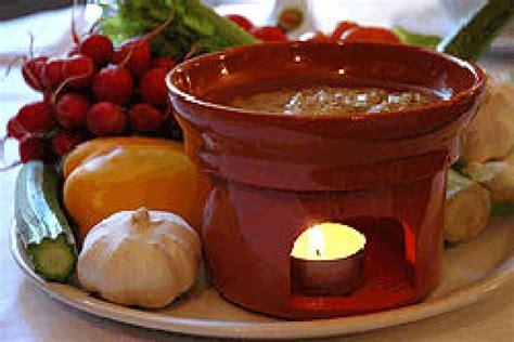fornelli per bagna cauda ricette regioni d italia piemonte bagna cauda una