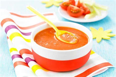 cuisine de bébé gaspacho pour bébé recette cuisine de bébé