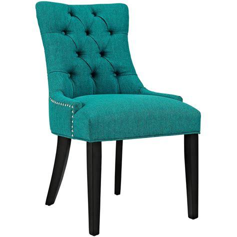 modway regent teal fabric dining chair eei  tea