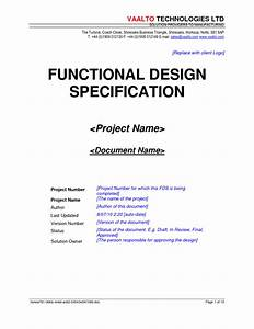 functional specification document template 28 images With functional design document template