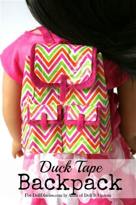 doll craft   trendy doll backpack  duck tape