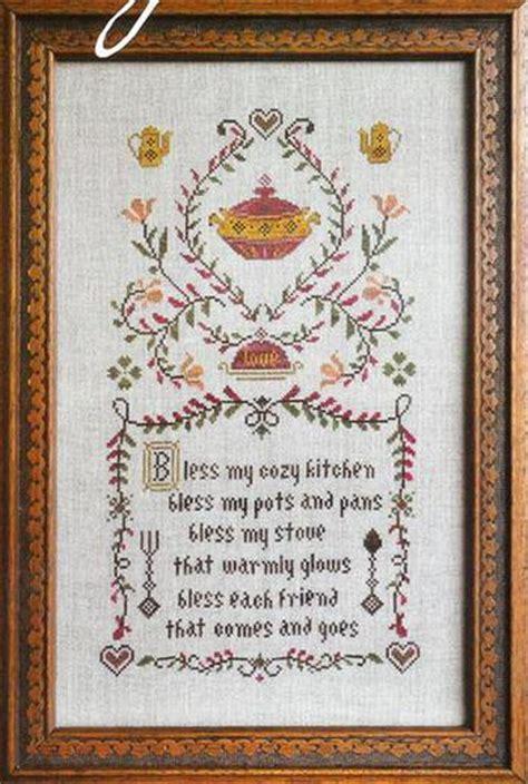 Cottage Garden Samplings Kitchen Prayer   Cross Stitch