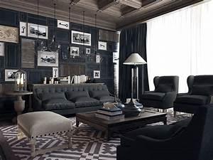 The living room with very impressive art deco interior for Impressive interior design photos modern living room ideas